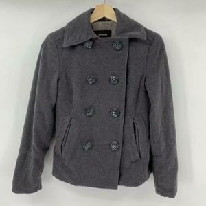 Express Women's Wool Double Breasted Pea Coat 2